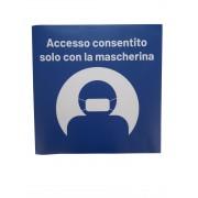 """Adesivi da terra Accesso consentito solo con la mascherina"""""""""""